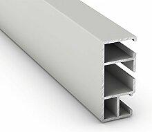 Alurahmen in Weiß, Braun oder Anthrazit für XXL Insektenschutz Fenster in Profi-Qualität, geeignet für Bausatz mit 130 x 220 cm, stabile Fliegengitter durch Schraub-/ Eckverbindungen
