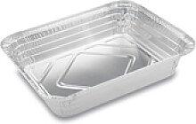 Aluschale BBQ Grillschale 1/2 eckig stehender Rand