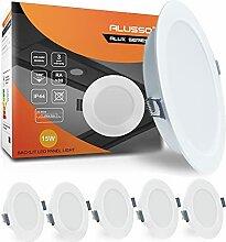 ALUSSO 6 x 15W LED Einbaustrahler Flach IP44 Rund