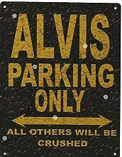 Alvis Parking Rustikaler Stil den großen 30,5x 40,6cm 30x 40cm Auto Schuppen Dose Garage Werkstatt Art Wand Spiele Raum