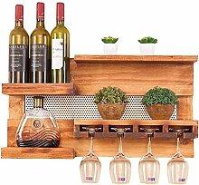 ALXLX Weinregal, Weinglas & Weinflaschenständer,