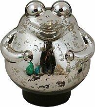 AM-Design Schwimmender Frosch Silber/Glas für