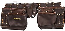 Am-Tech 12 Pocket Heavy Duty Leather Tool Pouch,