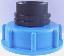 AM133 Auslaufadapter IBC-Container-Zubehör-Regenwasser-Tank-Adapter-Fitting-Kanister