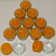 AMA-Feinkost 12 Bienenwachs Teelichter für eine