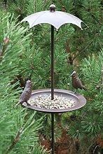 AmaCasa Vogeltränke für Wildvögel mit Stab,