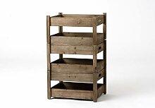 Amadeus 128515 kleines Regal, Metall/Holz,