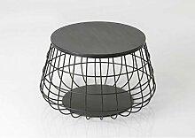 Amadeus Couchtisch, rund, Metall schwarz aus