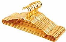 Amadoierly Haushalt nach Edelstahl Kleiderbügel Aluminium Kleiderständer Kleidung Unterstützung Bügel, 20, Gold 42 cm