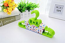 Amadoierly Kleiderbügel Kunststoff Mini Kleiderbügel Kinder Baby Neugeborenen,20,Grün