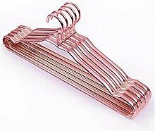 Amadoierly Wäschetrockner Haushalt Metallaufhänger Aluminium Kleiderbügel Kleidung Unterstützung Edelstahl Kleiderbügel, 10, Rose Gold