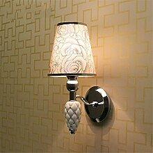 Amadoierly Wandlampe Schlafzimmer Nachttischlampe Moderne Minimalistische Schmiedeeiserne Lampe Wohnzimmer Balkon Treppe Wandlampe, A