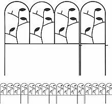 Amagabeli 46cm X 214cm Gartenzäune Aus Metall Set