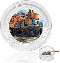 Amalfi Aschenbecher aus Glas, für drinnen und