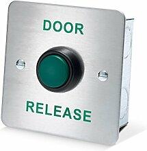 amalocks drb003F-dr Tür Release Flush erhöhte grün Exit Button, Edelstahl