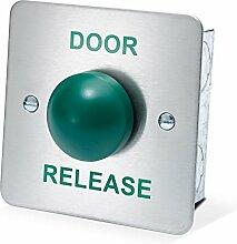 amalocks drb004F-dr Tür Release Flush grün Dome Exit Button, Edelstahl