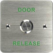 amalocks drb011F-dr Tür Release Flush beleuchtet Edelstahl Exit Button, grün