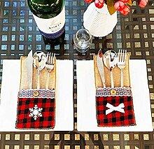 Amandaus Weihnachtsgeschirr-Halter für Messer,