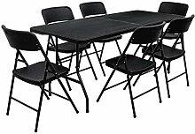 AMANKA 150kg Garten Sitzgruppe 180 cm Tisch