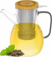 amapodo Teekanne mit Siebeinsatz 1100ml aus Glas