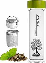 amapodo - Trinkflasche Glas - Glasflasche -