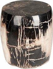 Amaris Elements   Steinhocker 'Tyler' versteinertes Holz, rund, Hocker, braun/schwarz, 40xH48cm