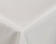 Amaris Lotus Jacquard Tischdecke für Heim und Garten, wasserabweisend, beige/weiß, Größe wählbar (Eckig 130 x 155 cm)