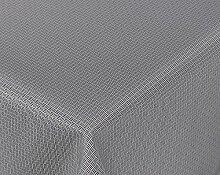 Amaris Lotus Jacquard Tischdecke für Heim und Garten, wasserabweisend, schwarz/weiß, Größe wählbar (Eckig 130 x 155 cm)