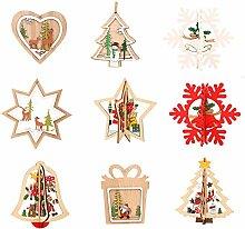 Amasawa 9 Stück Weihnachtsanhänger