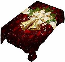 AmaSells Weihnachtstischdecke, Bedruckt,
