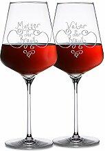 AMAVEL 2 Rotweingläser im Set – Eltern der