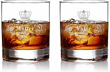 AMAVEL – 2 Whiskygläser im Set – Eltern der