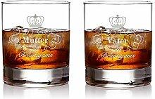 AMAVEL – 2 Whiskygläser im Set – Eltern des
