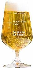 AMAVEL Bierglas mit Gravur, Maßeinheiten, Noch