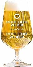 AMAVEL Lustiges Bierglas mit Gravur - Meine Liebe