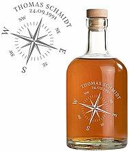 AMAVEL Whiskyflasche aus Glas, Personalisierte