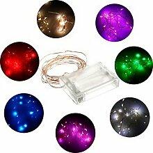 Amazing-Trading (TM) 2m 4,5V 1,2W 20LEDs Mini Kupfer Draht Lichterkette, 6Farben viole