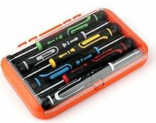Amazingdeal365 6 in 1 Handy Reparatur Werkzeuge Schraubendreher Set Kit Geeignet fuer iPad4 iPhone 6, Huawei, Samsung