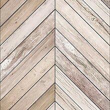 AmazingWall Wandtapete mit Pfeil-Holzmaserung,