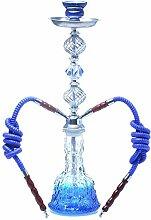 AMAZOM Shisha-Set Luxuriöse Moderne Glas-Shisha