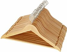 AmazonBasics Kleiderbügel aus Holz, 30 Stk.