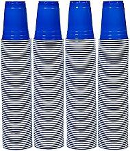 AmazonBasics - Partybecher aus Kunststoff, Einwegbecher, 473 ml, (240er-Pack), Blau