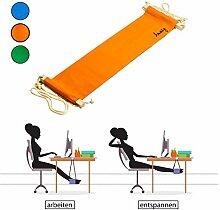 Amazy Fuß Hängematte – Praktische Fußstütze zur Entspannung und Entlastung im Büro (Orange)