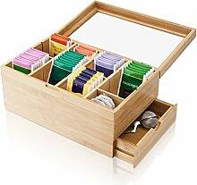Amazy Teebox aus Bambus – Dekorative Teedose aus