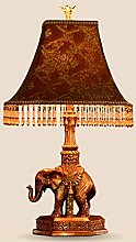 Amber europäische pastoralen kreative wohnzimmer lampe schlafzimmer lampe lampe mit lampe stoff lampe