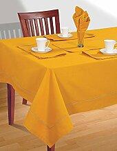 Amber Gelb Tischdecke Frühling Dekorationen für Zuhause Größe-137-CmX137 Cm
