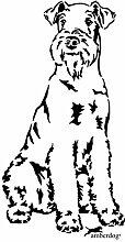 amberdog Airedale Terrier Wandtattoo Art.Nr.TT0162