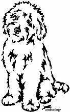 amberdog Goldendoodle Autoaufkleber Art.Nr.AT0182,