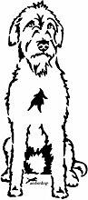 amberdog Irish Wolfhound Autoaufkleber