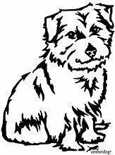 amberdog Norfolk Terrier Fensterfolie